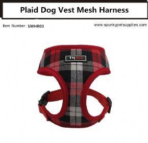Plaid Vest Mesh Harness Red