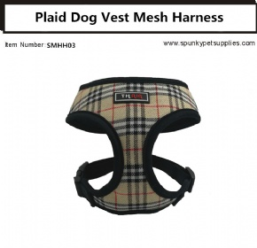 Plaid Vest Mesh Harness Black