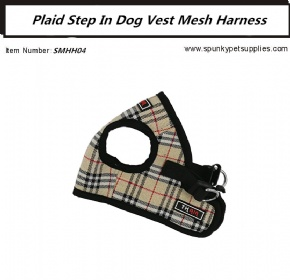 Plaid Mesh Step-in Harness Black