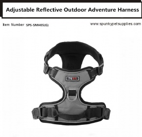 Dog Outdoor Adventure Harness Grey