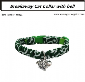 Breakaway Cat Collar with Bell Karakusa Green